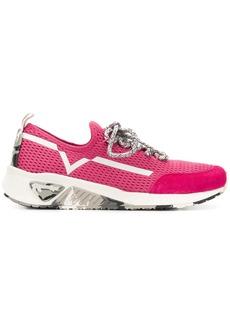 Diesel lace-up runner sneakers - Pink & Purple