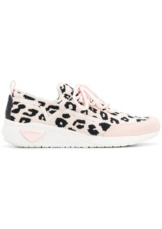 Diesel leopard print low-top sneakers - Pink & Purple