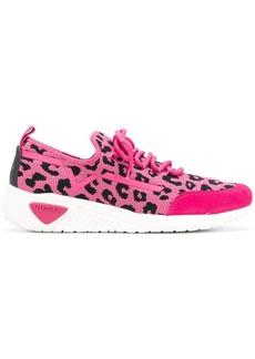 Diesel leopard print slip-on sneakers - Pink & Purple