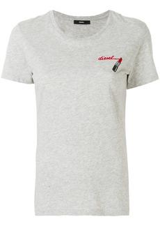 Diesel lipstick-print T-shirt - Grey