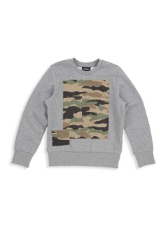 Diesel Little Boy's & Boy's Camouflage-Print Cotton Sweatshirt