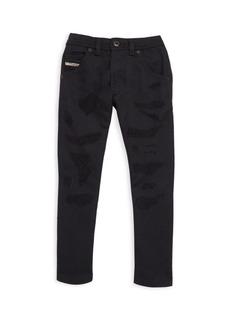 Diesel Little Boy's & Boy's Distressed Carrot Skinny Jeans