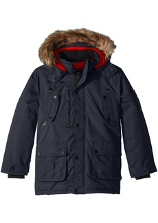 Diesel Little Boys' Outerwear Jacket (More Styles Available) Faux Fur Parka-DS68-Charcoal