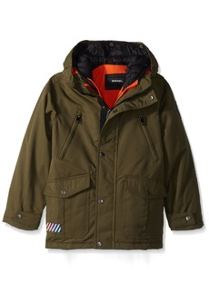 Diesel Little Boys' Outerwear Jacket (More Styles Available) Systems-DS10-Olive/Charcoal