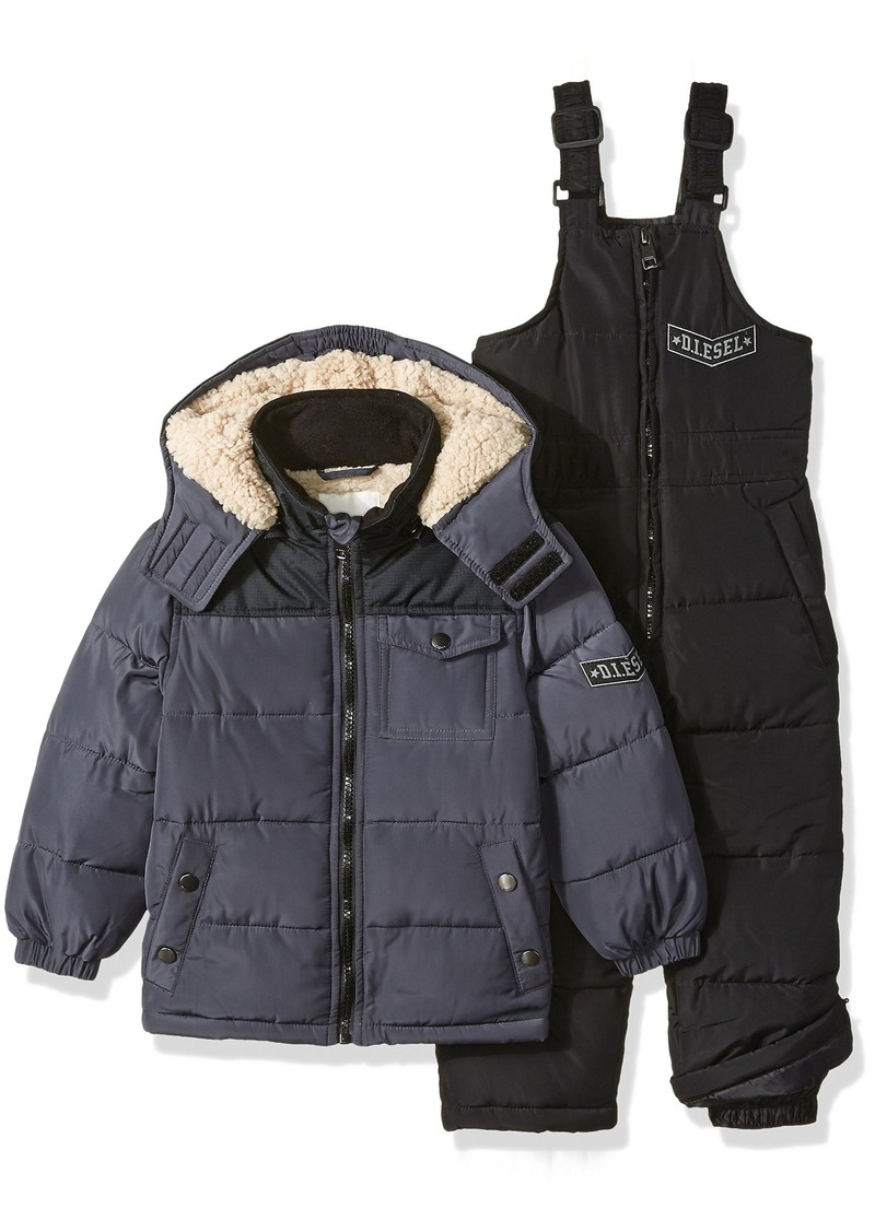 Diesel Little Boys' Toddler Bubble Jacket with Insulated Bib Overall Pant