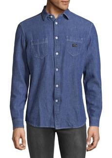 Diesel Long Sleeve Denim Button-Down Shirt