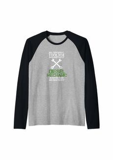 Diesel Mechanic Shirt: Expensive Toolbox Raglan Baseball Tee