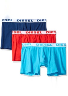 Diesel Men's 3-Pack Sebestian Stretch Boxer Trunk red/Blue/Turquoise S