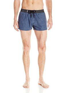 Diesel Men's Bmbx-Sandy-E Treated Denim Swim Short