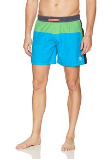 Diesel Men's Caybay Colorblock 12 Inch Swim Trunk