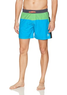 Diesel Men's Caybay Colorblock 12 Inch Swim Trunk