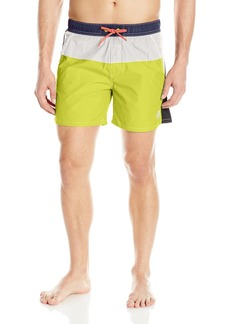 Diesel Men's Caybay Colorblock Long 16inch Swim Trunk