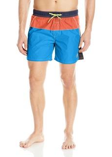 Diesel Men's Caybay Colorblock Long 16inch Swim Trunk