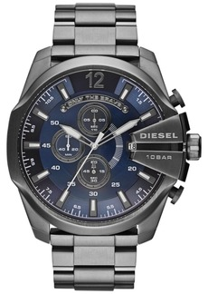 Diesel Men's Chronograph Mega Chief Gunmetal Ion-Plated Stainless Steel Bracelet Watch 59x51mm DZ4329