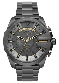 Diesel Men's Chronograph Mega Chief Gunmetal Stainless Steel Bracelet Watch 51mm