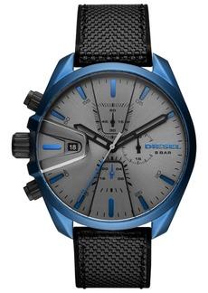 Diesel Men's Chronograph MS9 Chrono Black Nylon Strap Watch 48mm