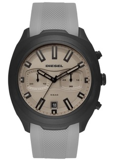 Diesel Men's Chronograph Tumbler Gray Silicone Strap Watch 48mm