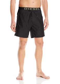 Diesel Men's Dolphin 4 Inch Solid Boxer Swim Short