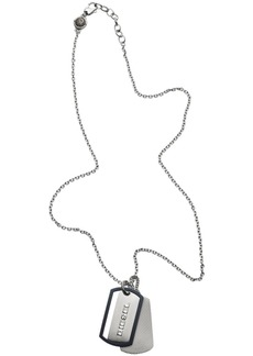 Diesel Men's Engraved Stainless Steel Double Dog Tag Necklace