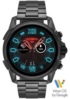 Diesel Men's Full Guard 2.5 Gunmetal Stainless Steel Bracelet Touchscreen Smart Watch 48mm, Powered by Wear Os by Google
