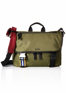 Diesel Men's Keep The Flaw F-Law Briefcase-Cross bodybag olive night