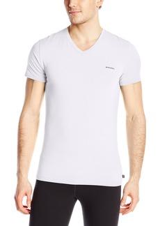 Diesel Men's Michael Essentials Logo V-Neck T-Shirt