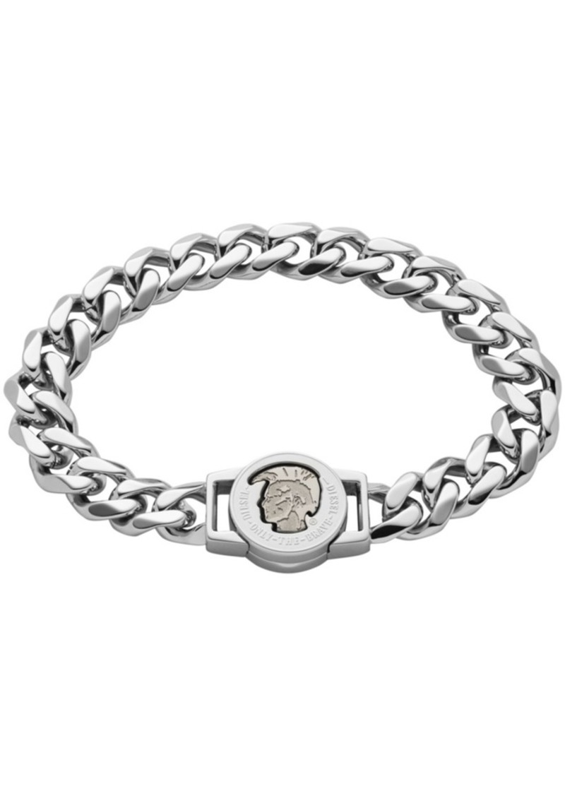 Diesel Men's Mohican Head Engraved Stainless Steel Id Bracelet