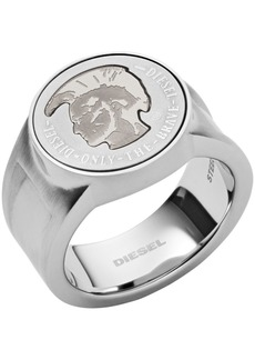 Diesel Men's Mohican Head Stainless Steel Signet Ring