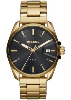Diesel Men's MS9 Gold-Tone Stainless Steel Bracelet Watch 44mm