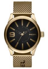 Diesel Men's Rasp Nsbb Gold-Tone Stainless Steel Mesh Bracelet Watch 46mm