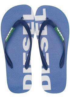 Diesel Men's SA-BRIIAN-Sandals Flip-Flop Turkish sea/Jelly Bean/Star White  M US
