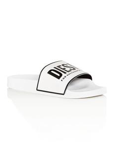 Diesel Men's Sa-Valla Logo Slide Sandals