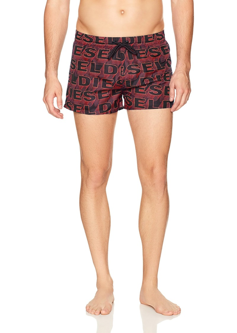 Diesel Men's Sandy Logo 12 Inch Swim Trunk