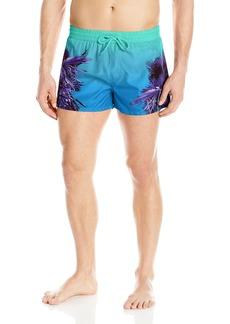 Diesel Men's Sandy Palm Printed 12 Inch Short Swim