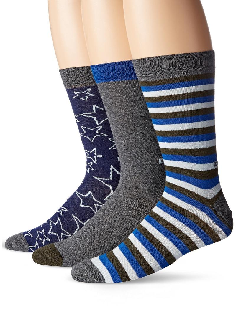 Diesel Diesel Men's Seasonal Threepack Socks Sock Size: 32 ...