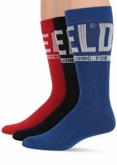 Diesel Men's SKM-RAY 3 Pack Crew Socks Blue/red L
