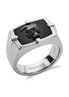 Diesel Men's Stainless Steel and Agate Ring