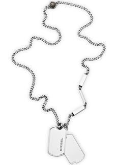 Diesel Men's Stainless Steel Double Dog Tag Necklace