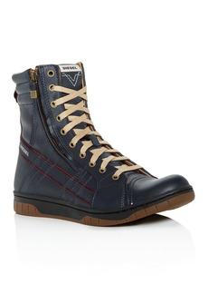 Diesel Men's Tatradium Valadium Leather Sneaker Boots