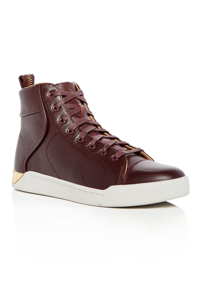9449131e9dbb4 Diesel Diesel Men's Tempus S-Marquise Leather High Top Sneakers | Shoes