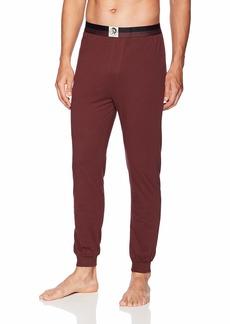 Diesel Men's UMLB-Julio Loungewear Pants Maroon/red L
