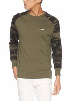 Diesel Men's UMLT-Casey Sweat-Shirt Camou Sleeve  S