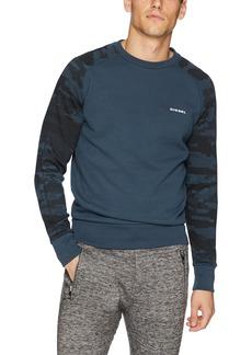 Diesel Men's UMLT-Casey Sweat-Shirt Camou Sleeve  XL