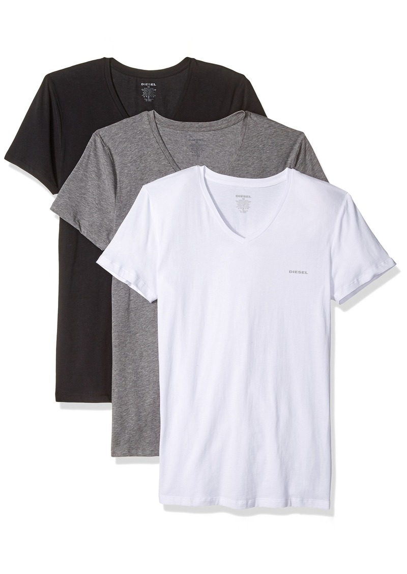 Diesel Men's UMTEE-MICHAEL3PACK V-Neck T-Shirt  XXL