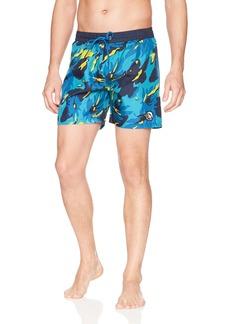 Diesel Men's Wave Camo Printed 16 Inch  Swim Short  m