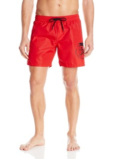 Diesel Men's Wave Mohican Logo Swim Short