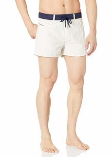 Diesel Men's Wayeeki Printed Palm Short 12inch Swim Trunk