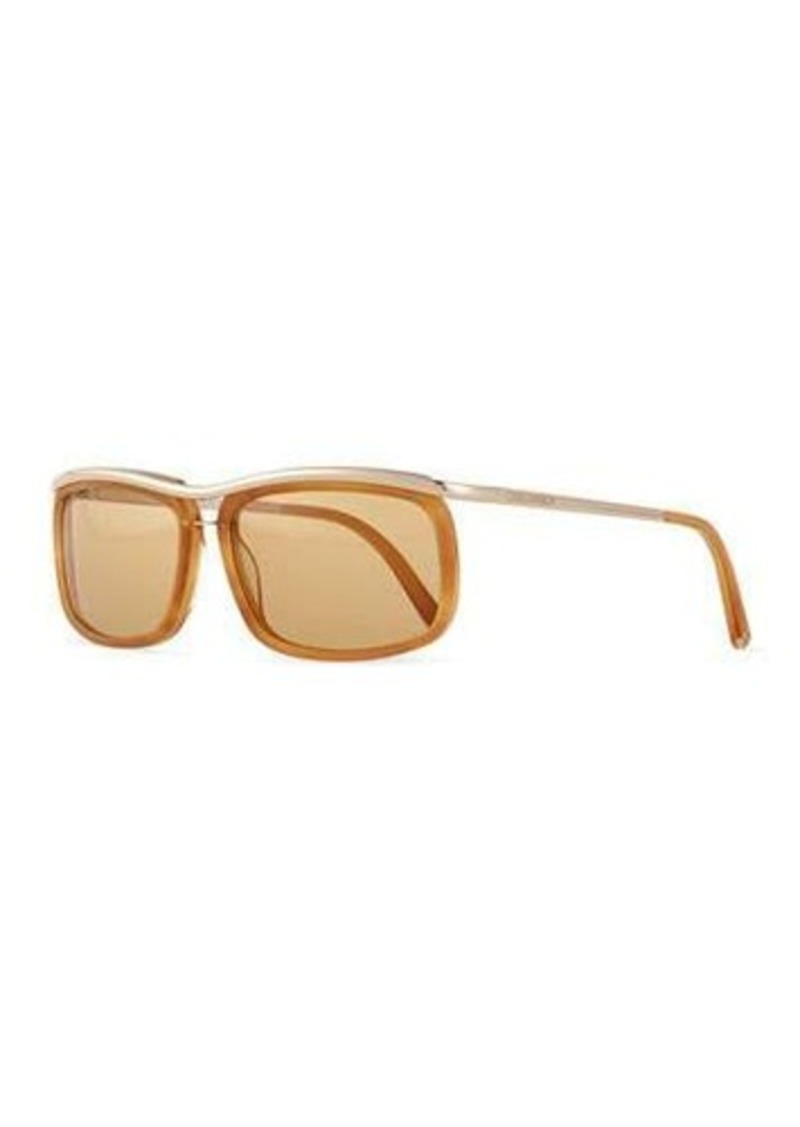 Diesel Metal/Acetate Square-Frame Sunglasses