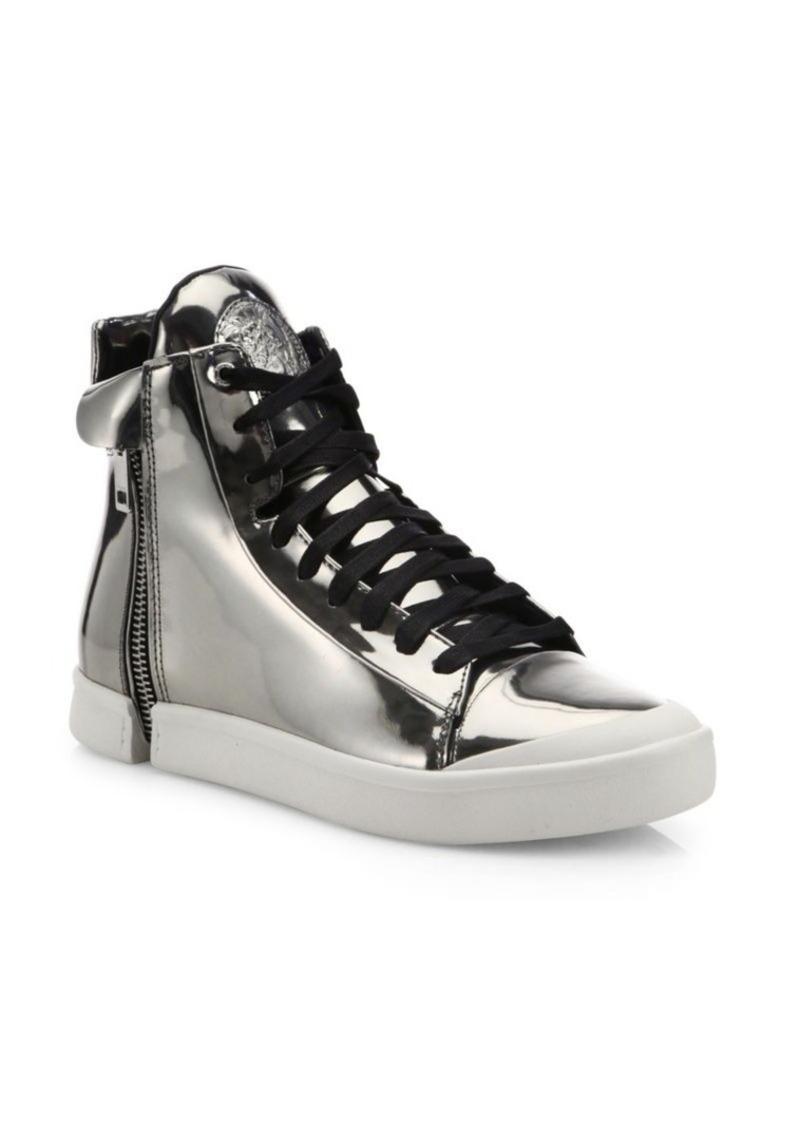 Diesel Metallic Leather Sneakers