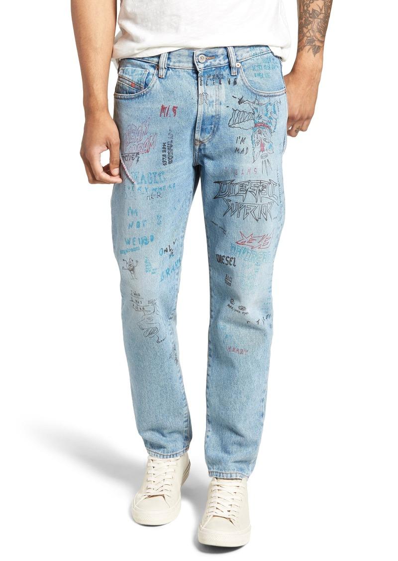 b3c5e32b Diesel DIESEL® Mharky Slim Straight Leg Jeans (076K) | Jeans